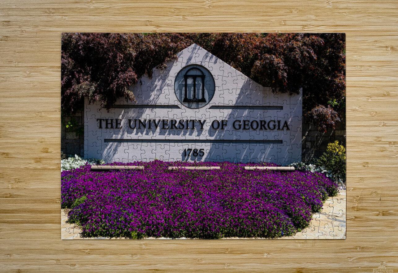 University of Georgia   Athens GA 07028  HD Metal print with Floating Frame on Back
