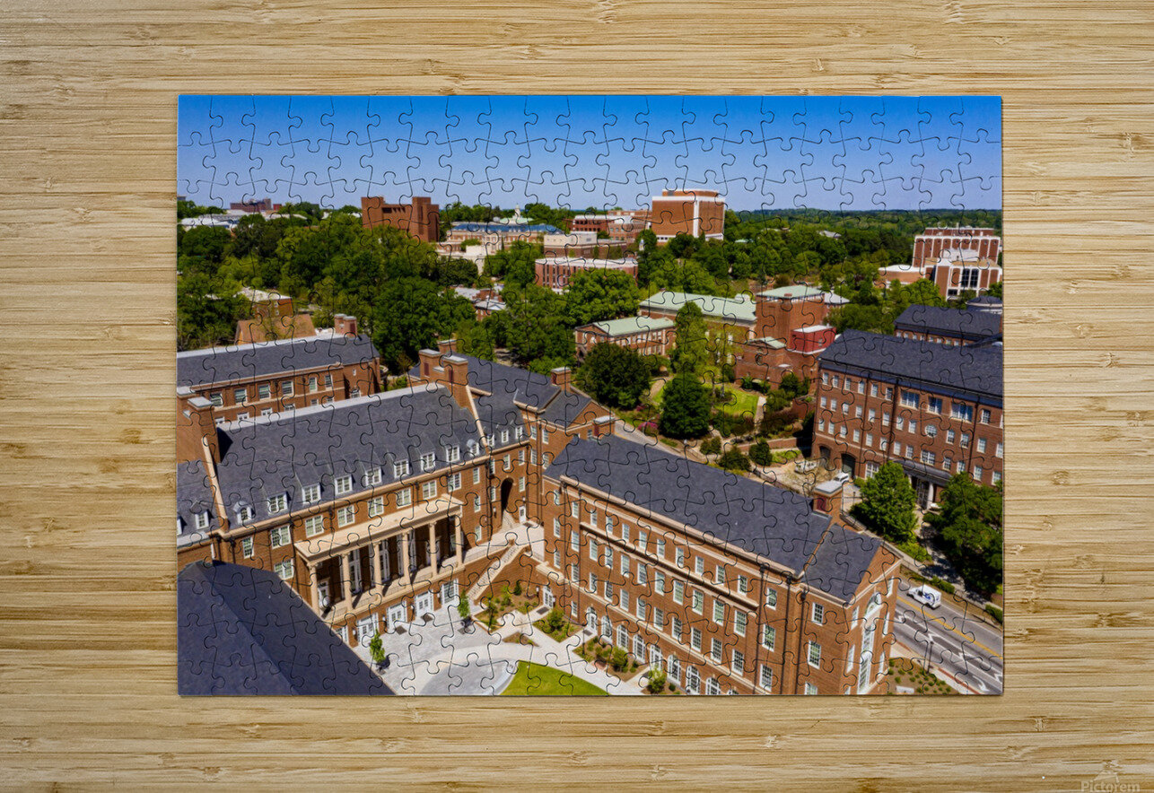 University of Georgia Aerial View   Athens GA 0905  HD Metal print with Floating Frame on Back