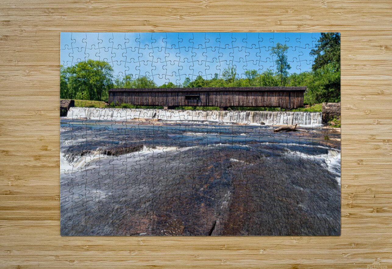 Watson Mill Bridge State Park   Comer GA 06860  HD Metal print with Floating Frame on Back