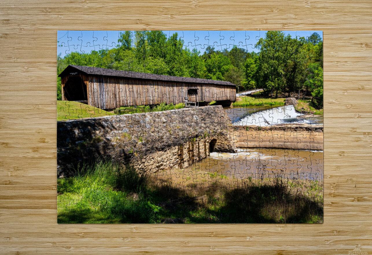 Watson Mill Bridge State Park   Comer GA 06576  HD Metal print with Floating Frame on Back