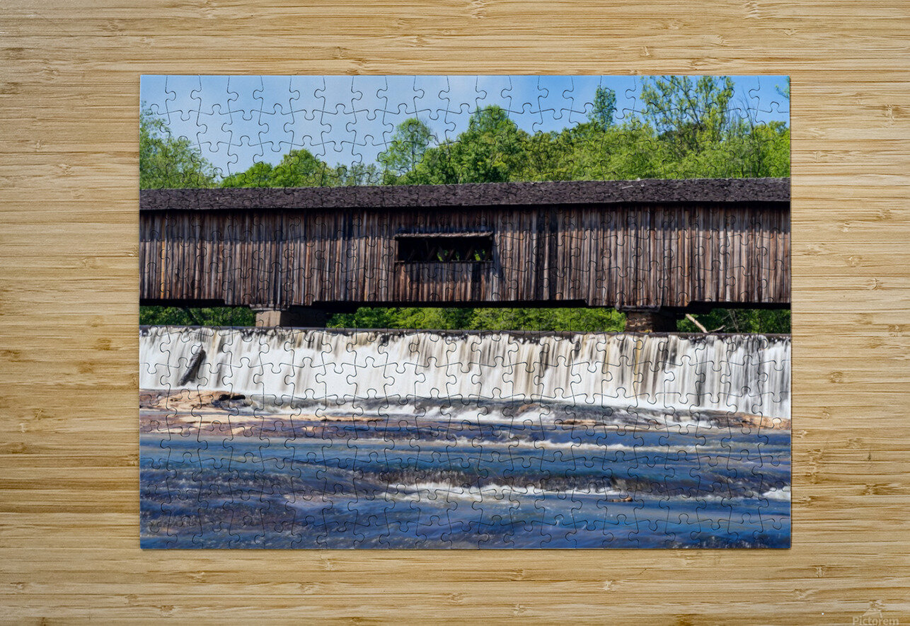 Watson Mill Bridge State Park   Comer GA 06715  HD Metal print with Floating Frame on Back