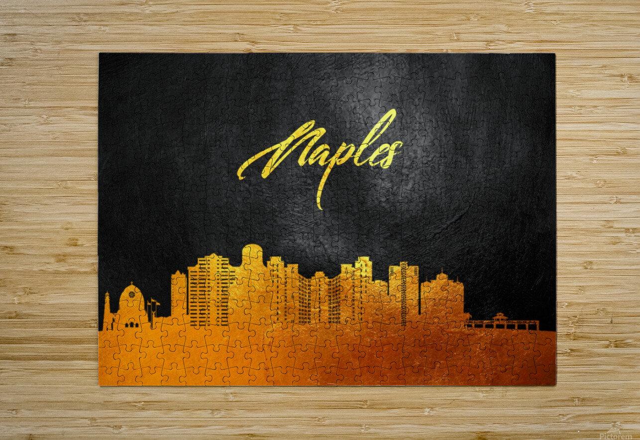 Naples Florida Skyline Wall Art  HD Metal print with Floating Frame on Back