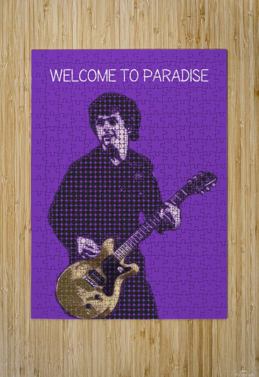 welcome to paradise   Billie Joe Armstrong  HD Metal print with Floating Frame on Back