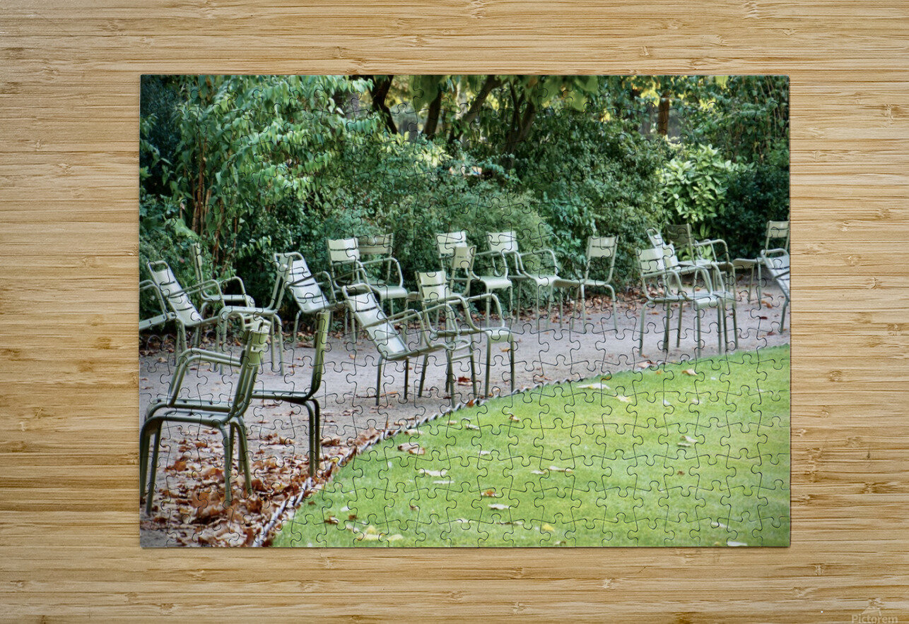 Chaises du Luxembourg   6  HD Metal print with Floating Frame on Back