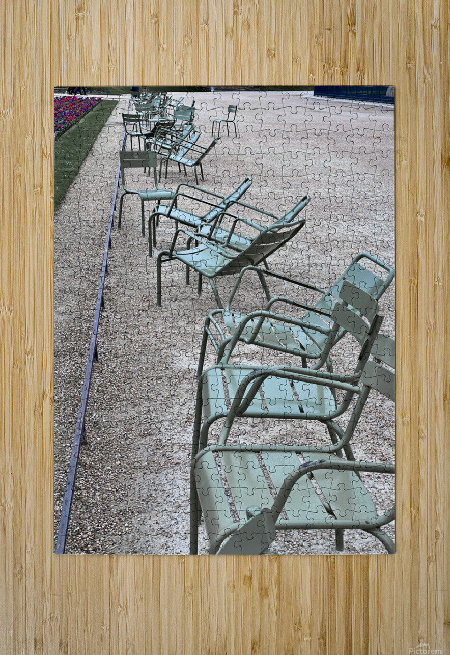 Chaises du Luxembourg   1  HD Metal print with Floating Frame on Back