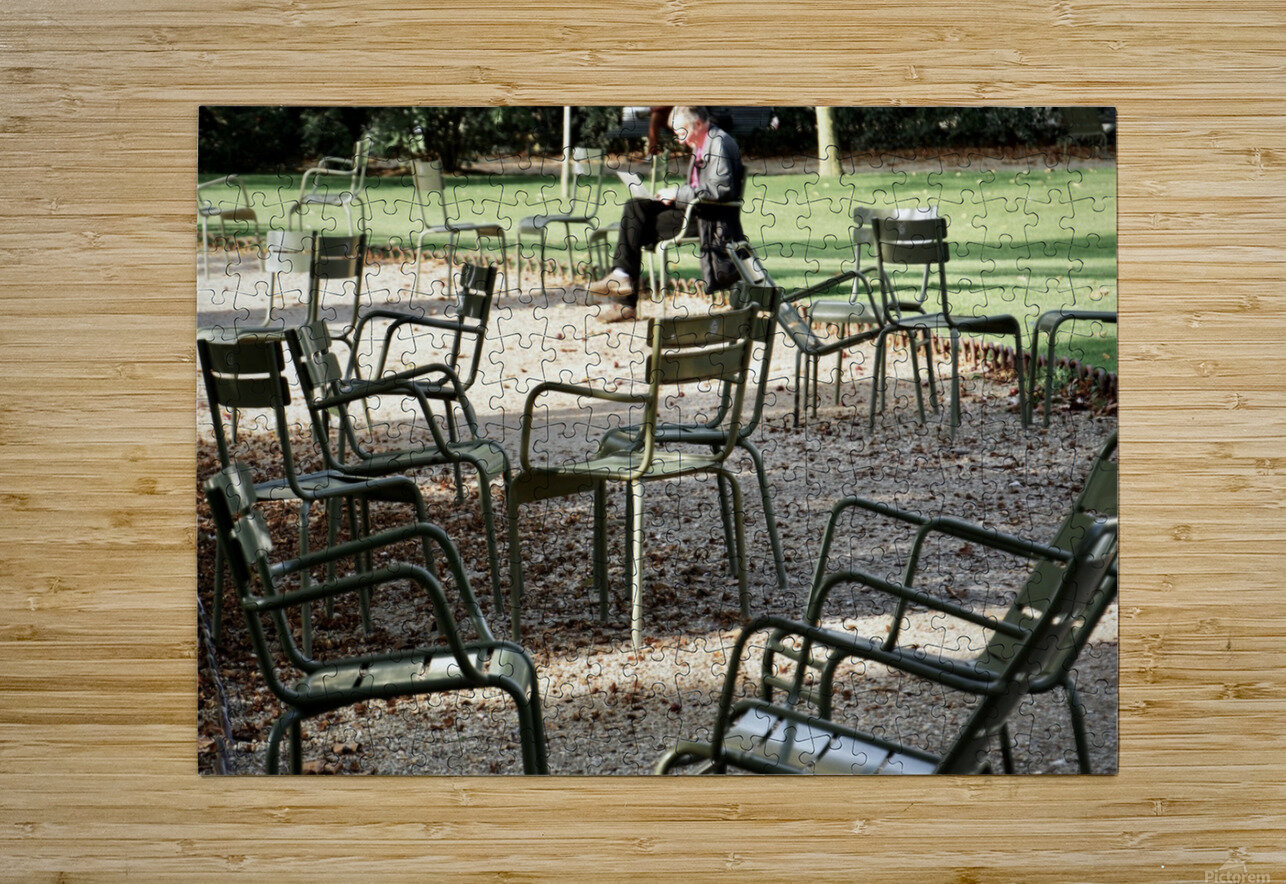 Chaises du Luxembourg   2  HD Metal print with Floating Frame on Back