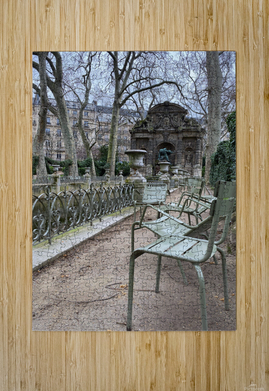 Chaises du Luxembourg   10  HD Metal print with Floating Frame on Back