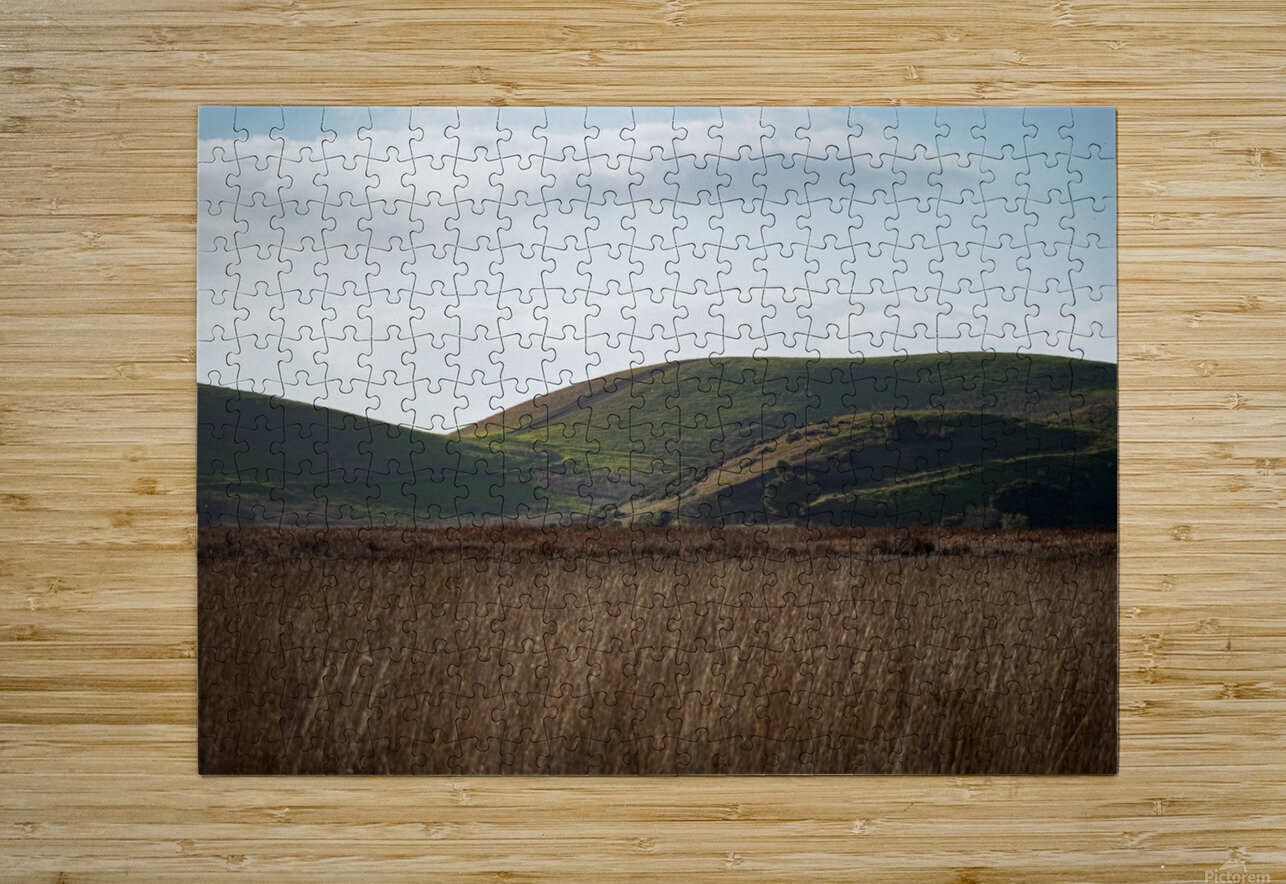 Coyote Hills During Sunset  HD Metal print with Floating Frame on Back