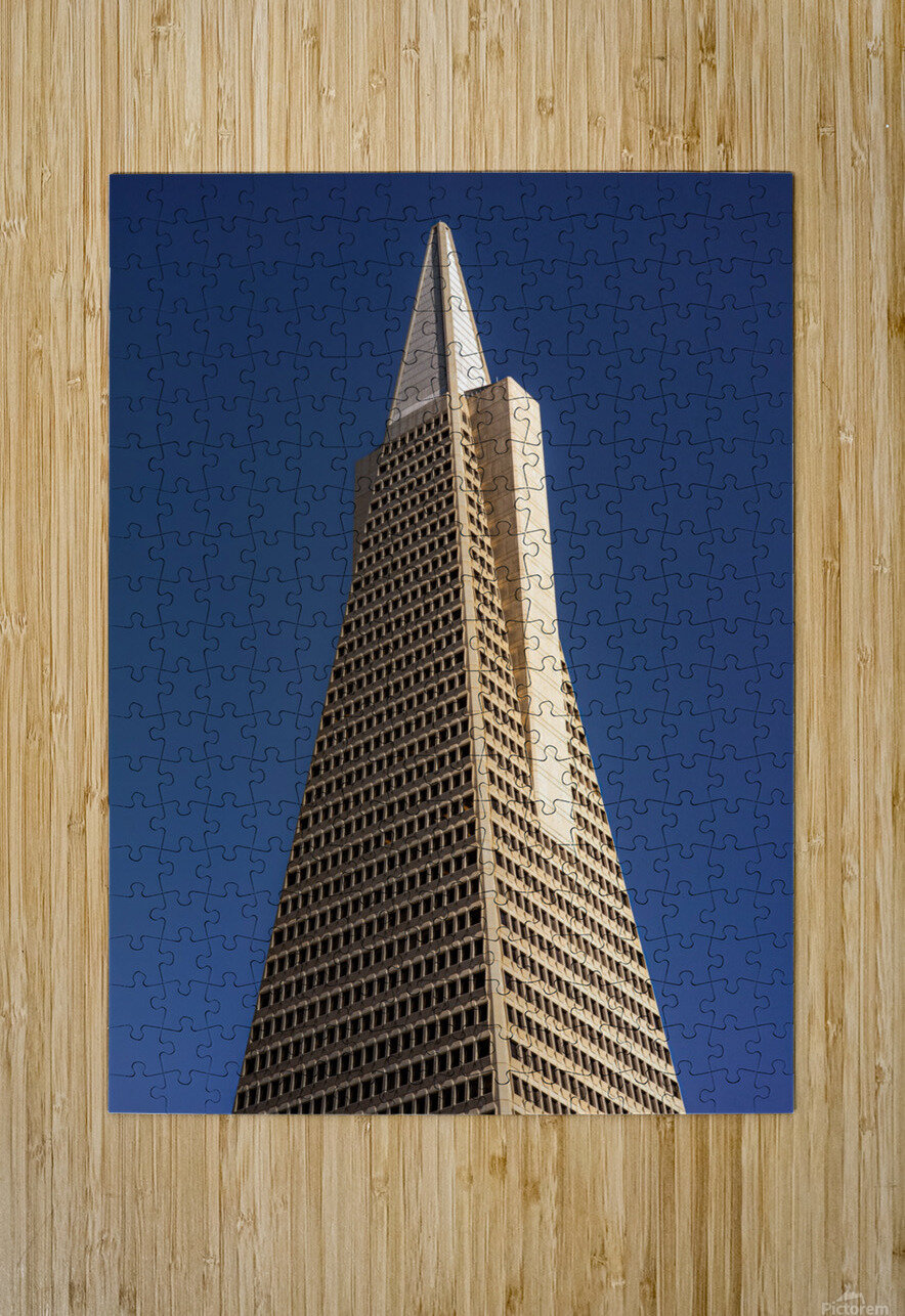 Transamerican Pyramid  HD Metal print with Floating Frame on Back