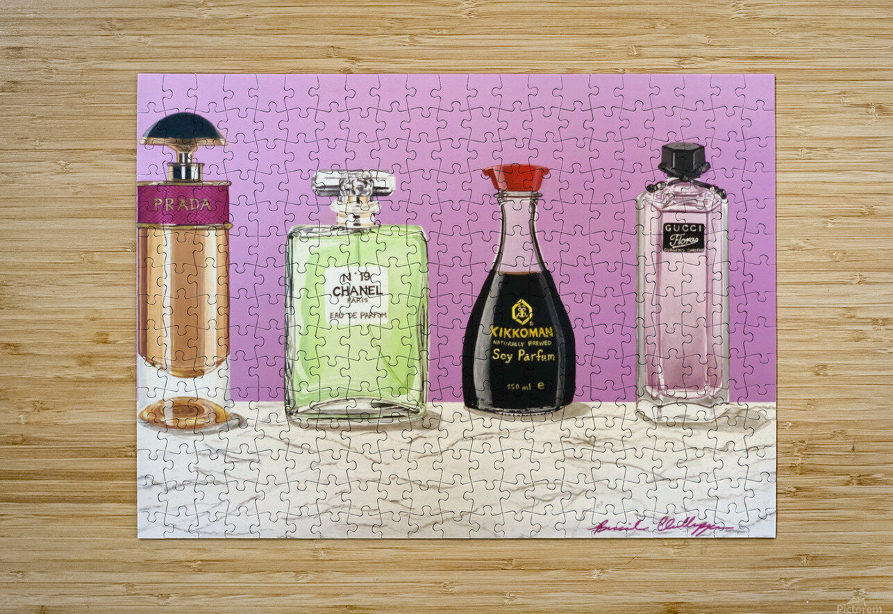 Soy Parfum  HD Metal print with Floating Frame on Back