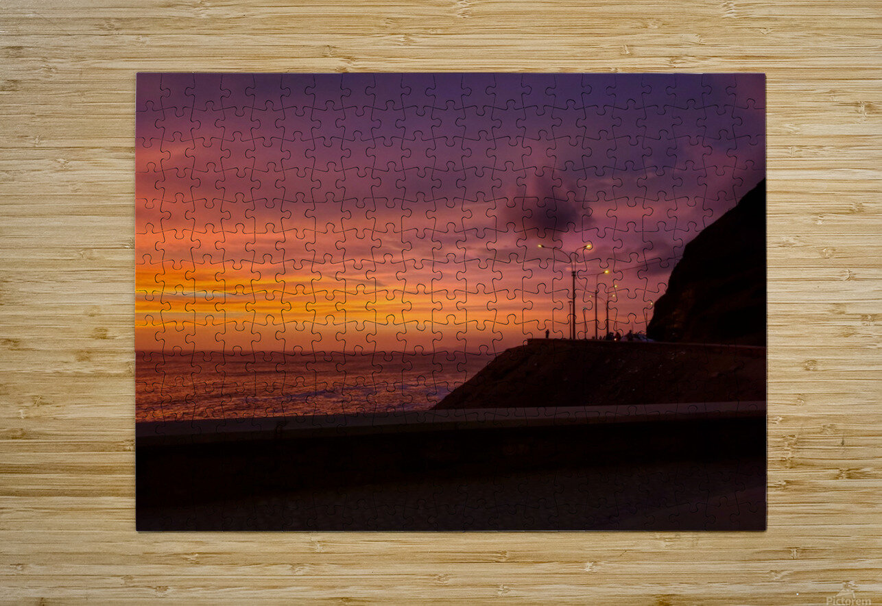 Costa Verde Sunset   HD Metal print with Floating Frame on Back