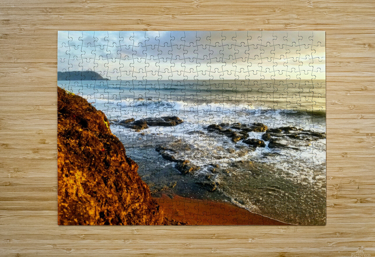 Jaco Beach  HD Metal print with Floating Frame on Back