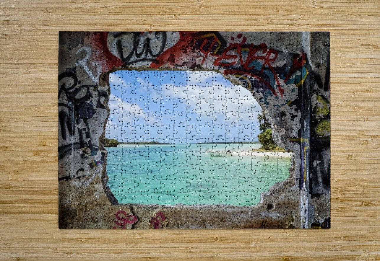 Paradise  HD Metal print with Floating Frame on Back