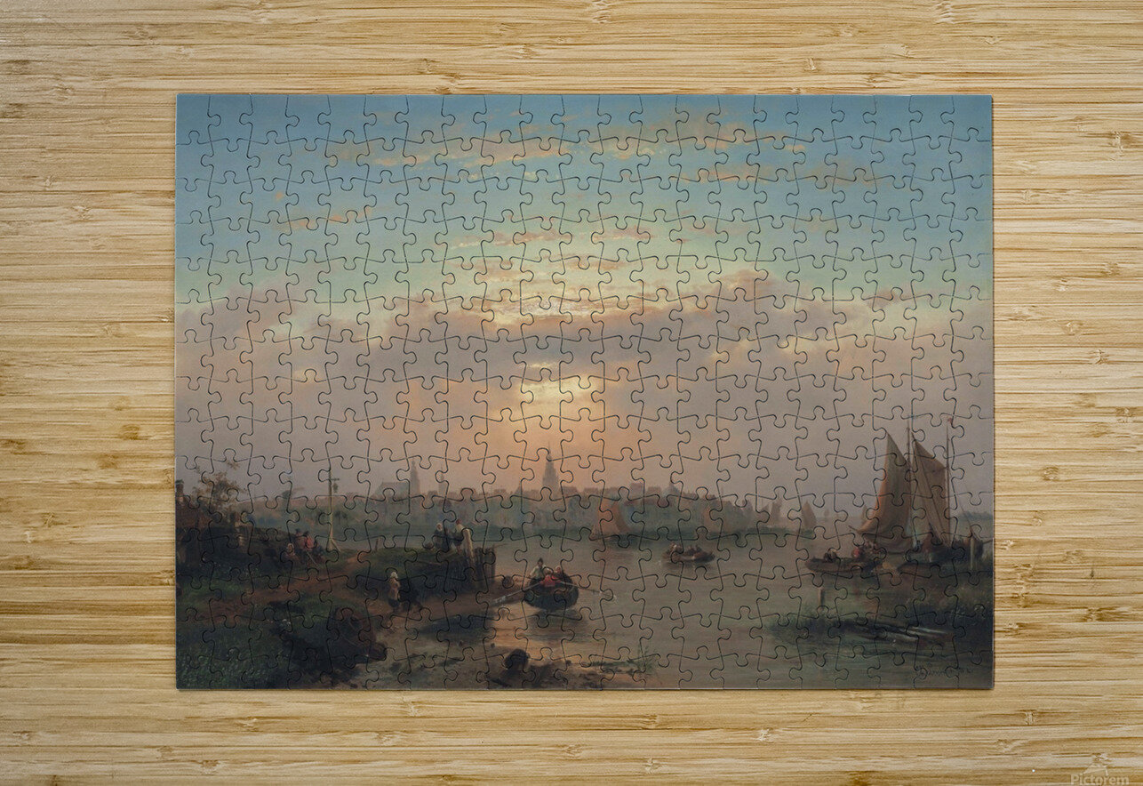 Evening on the Scheldt, Holland  HD Metal print with Floating Frame on Back
