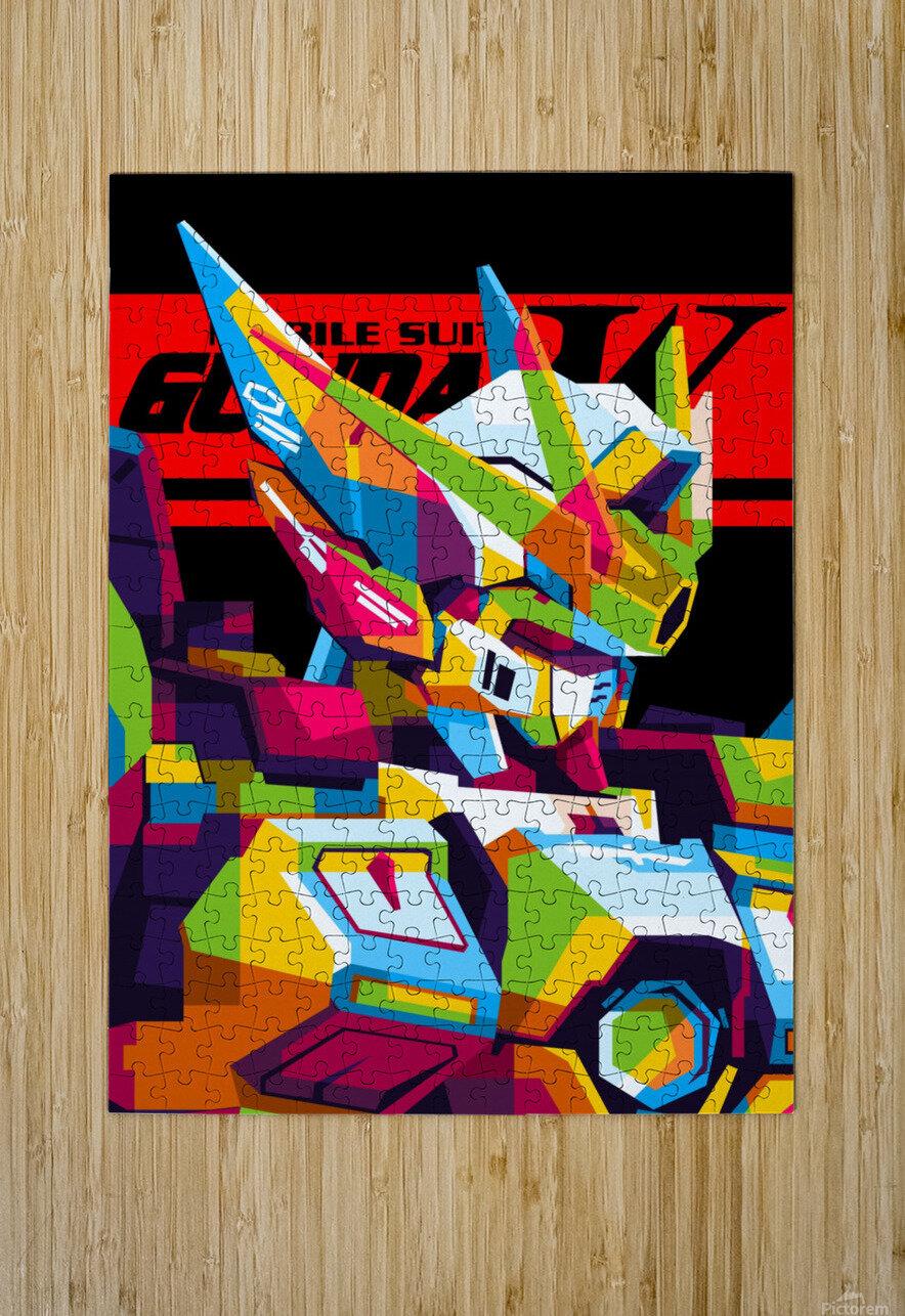Wings Gundam Zero Pop Art  HD Metal print with Floating Frame on Back