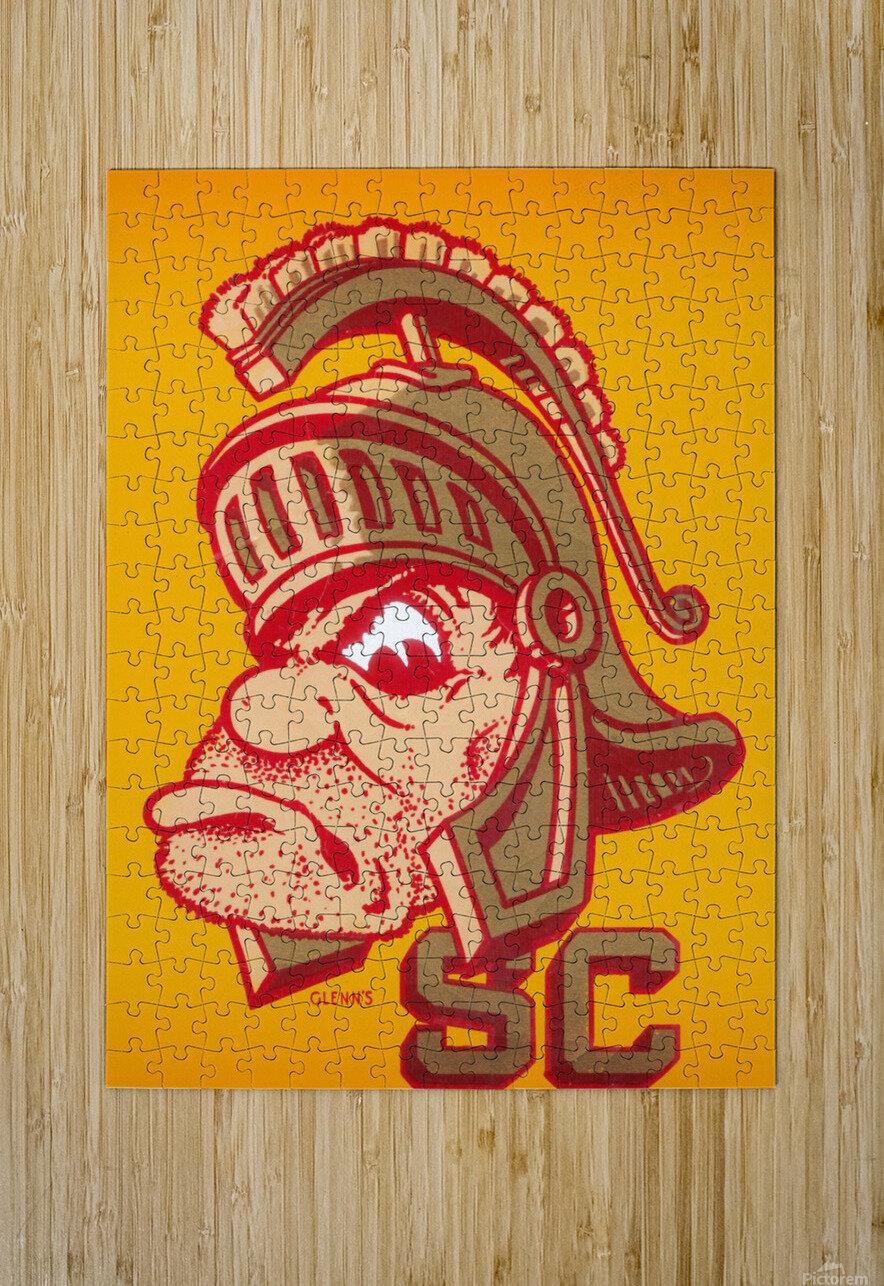 Vintage Fifties SC Trojan Art   HD Metal print with Floating Frame on Back