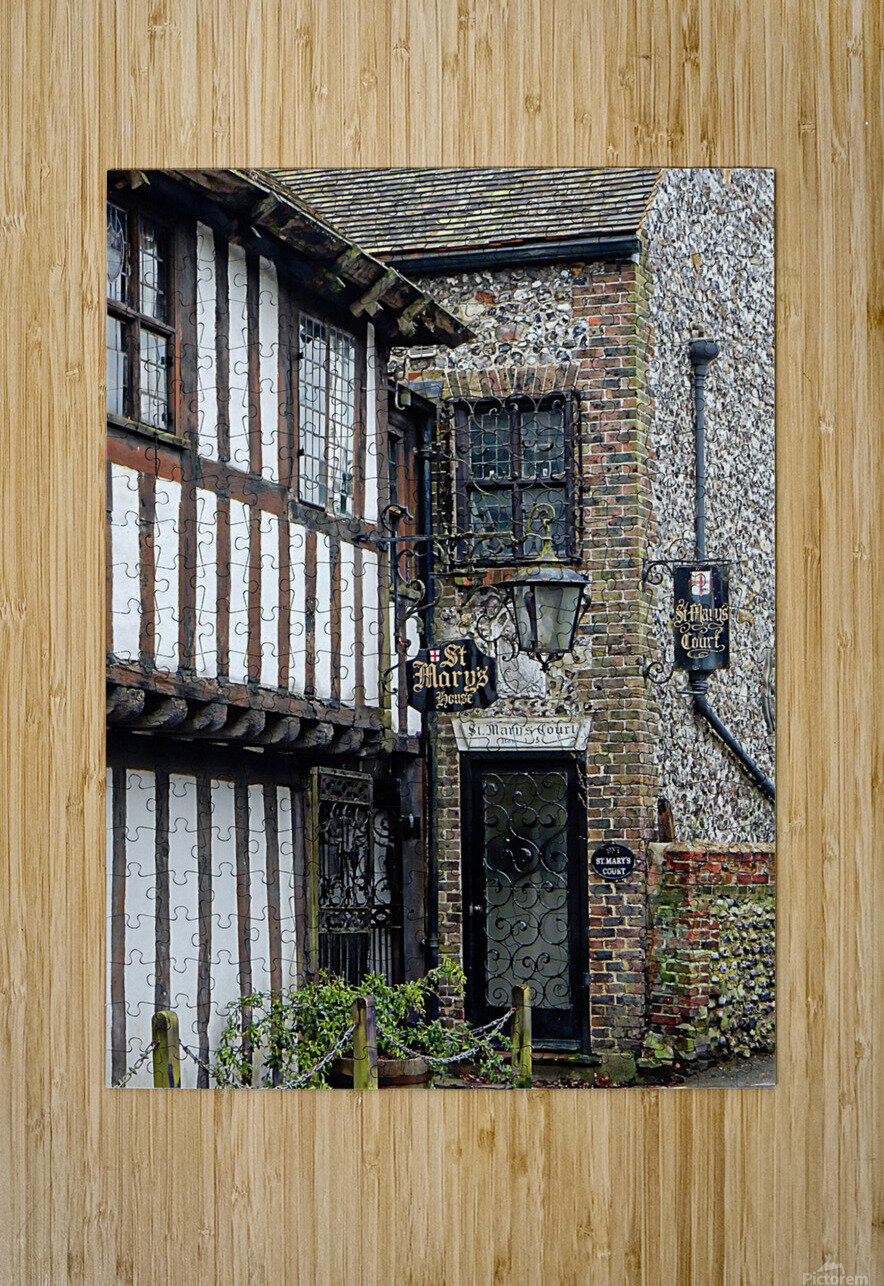 St Marys House Bramber  HD Metal print with Floating Frame on Back