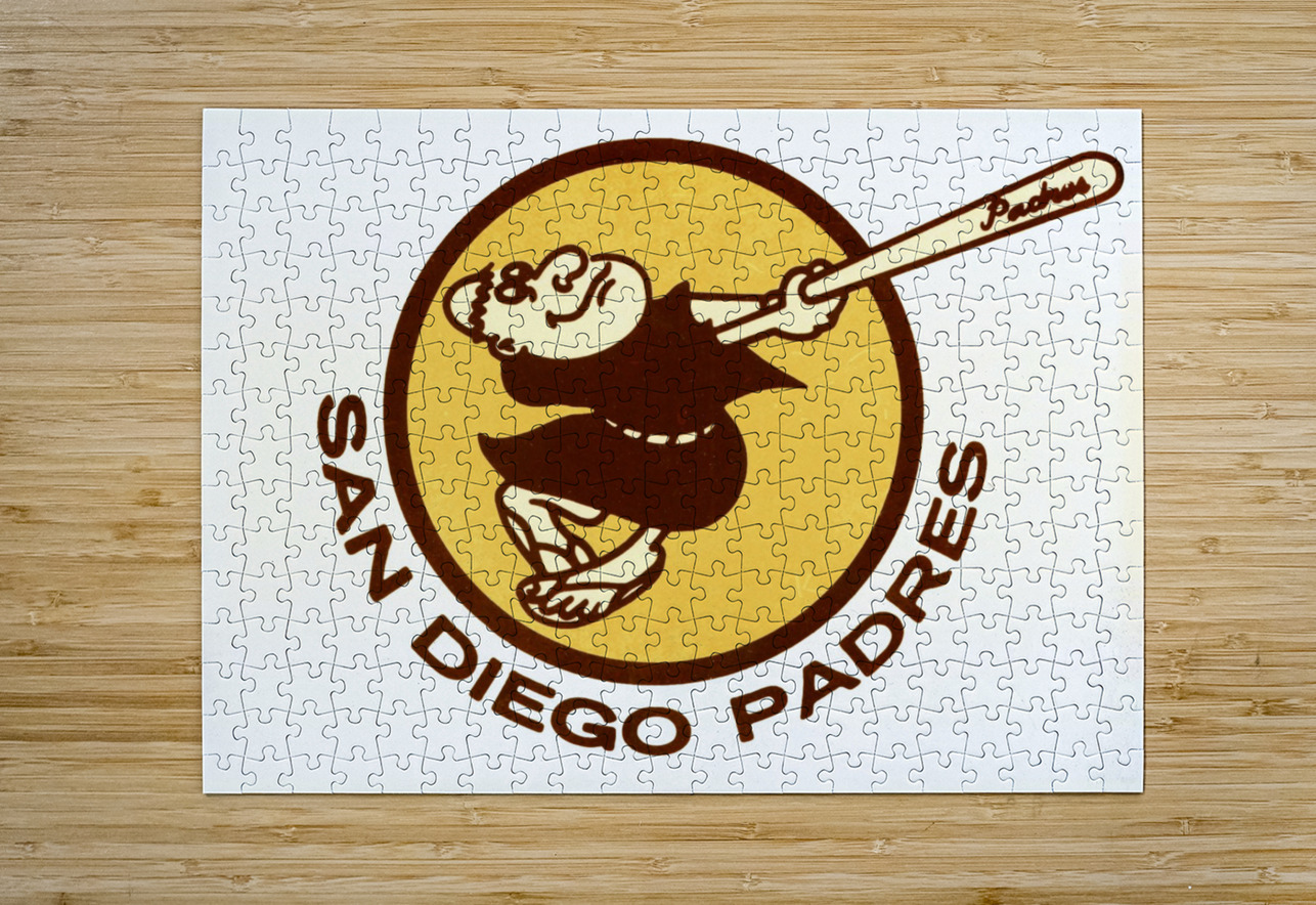 Retro San Diego Padres Art  HD Metal print with Floating Frame on Back