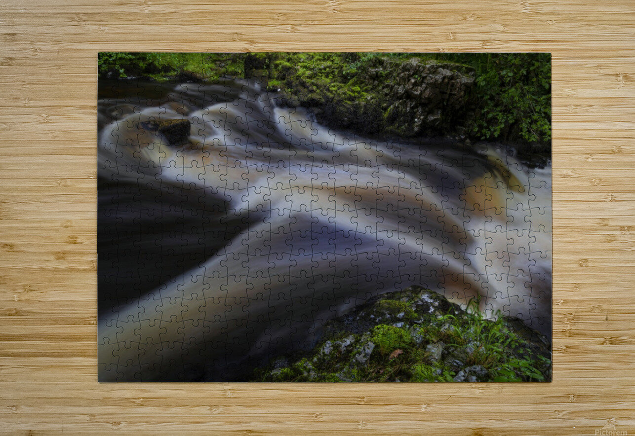 Waterfall Country at Pontneddfechan  HD Metal print with Floating Frame on Back