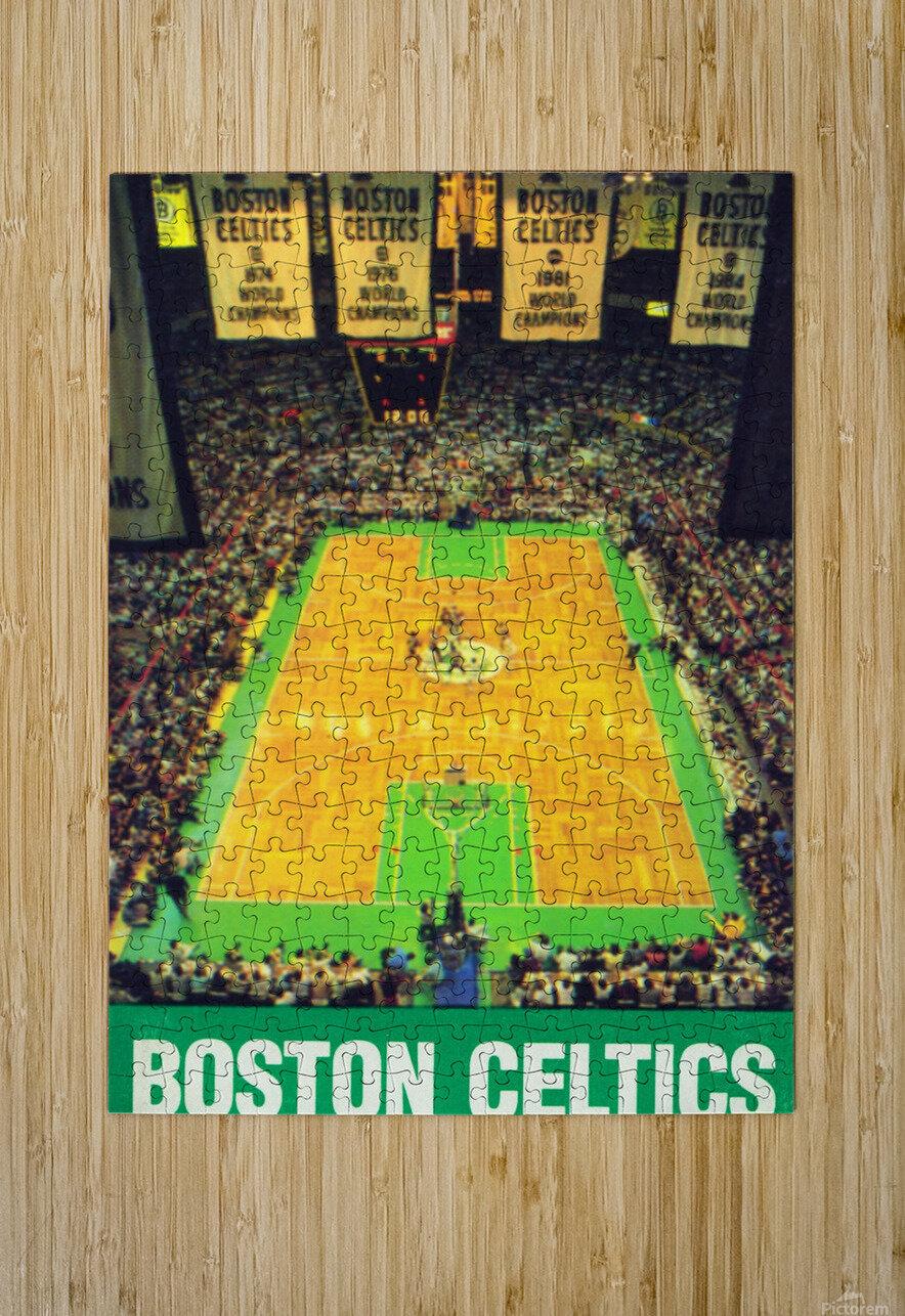 1988 Boston Celtics Boston Garden Art  HD Metal print with Floating Frame on Back