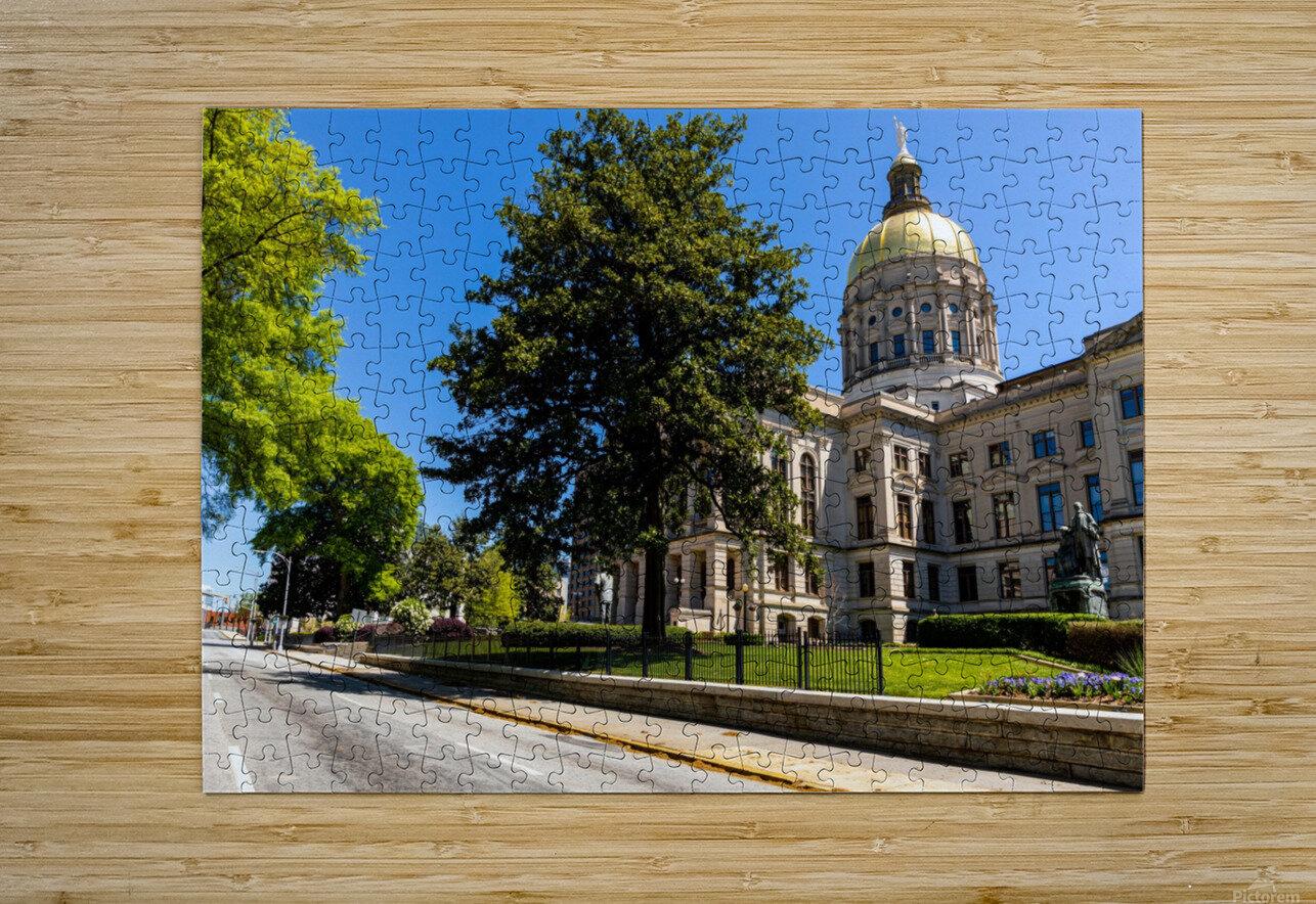 Georgia State Capitol Building   Atlanta GA 6984  HD Metal print with Floating Frame on Back