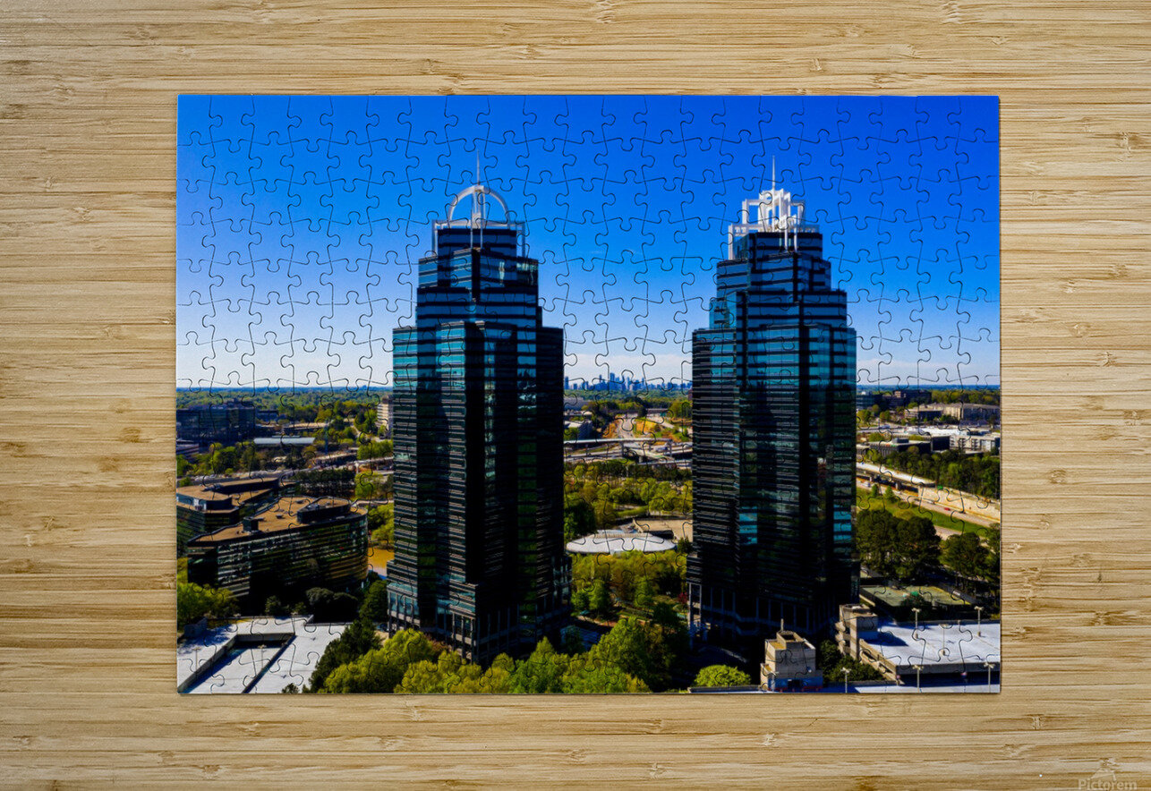 King and Queen Buildings   Atlanta GA 0556  HD Metal print with Floating Frame on Back
