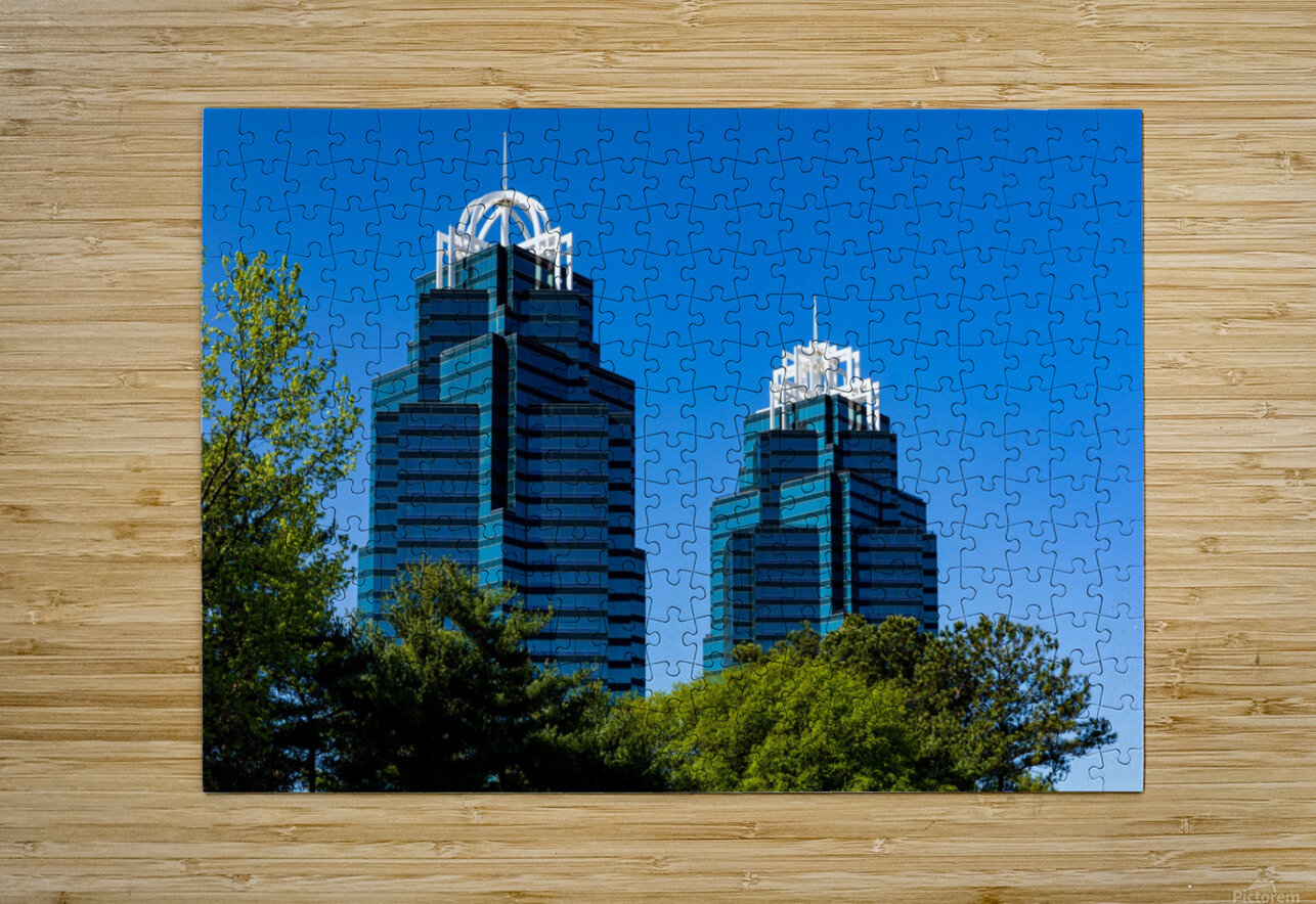 King and Queen Buildings   Atlanta GA 6686  HD Metal print with Floating Frame on Back