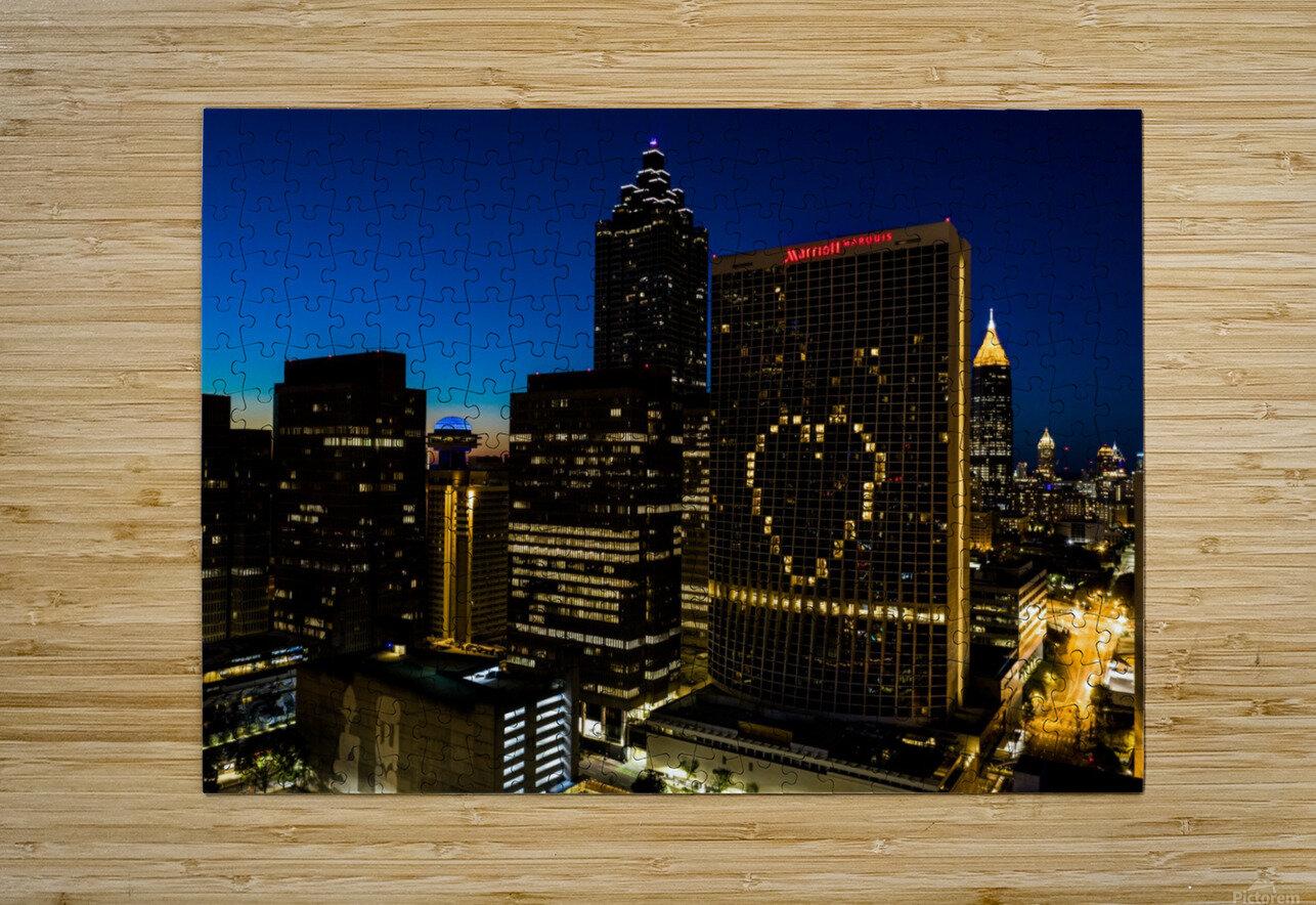 Marriott Marquis Aerial View   Atlanta GA 0660  HD Metal print with Floating Frame on Back