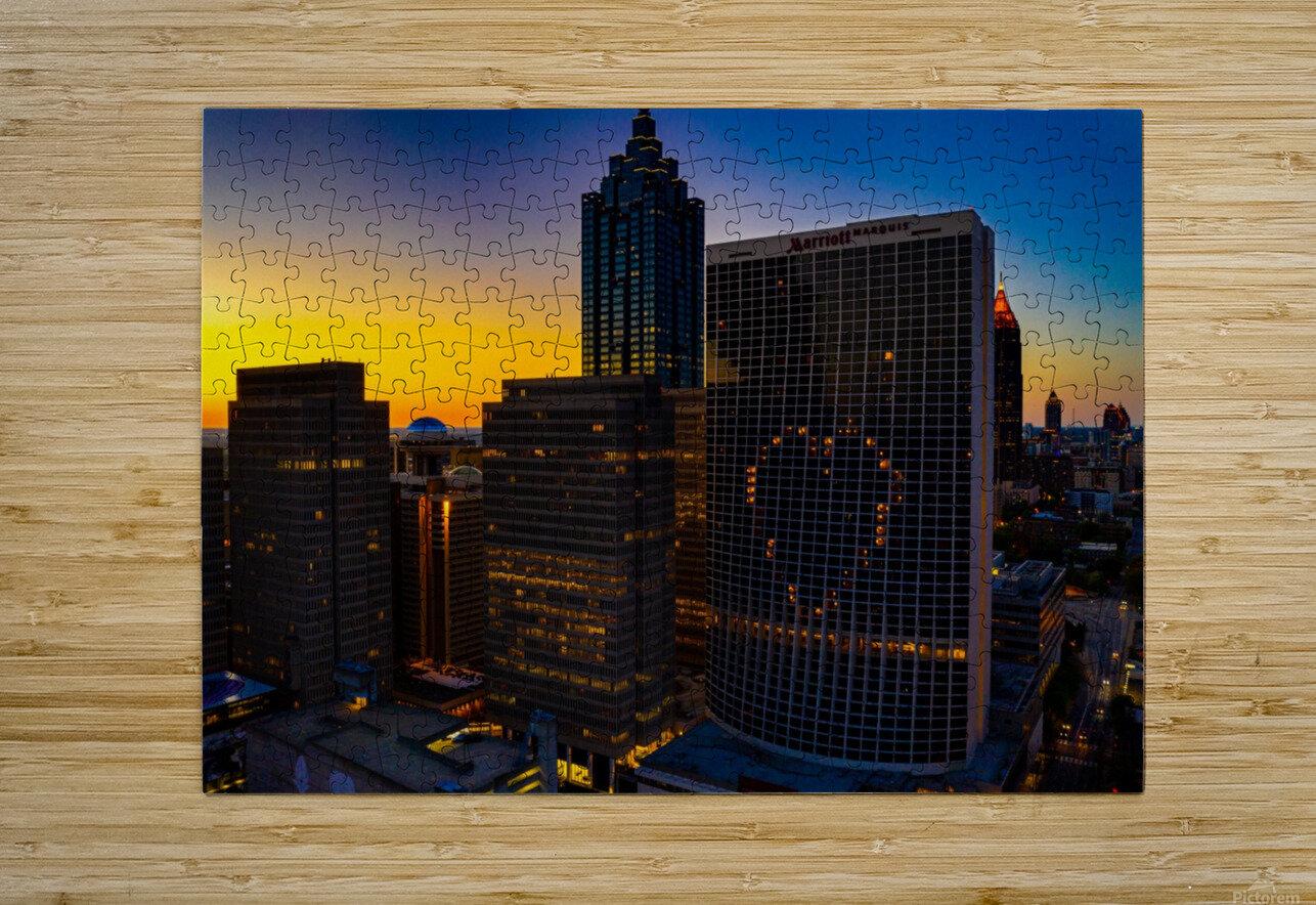 Marriott Marquis Aerial View   Atlanta GA 0650  HD Metal print with Floating Frame on Back