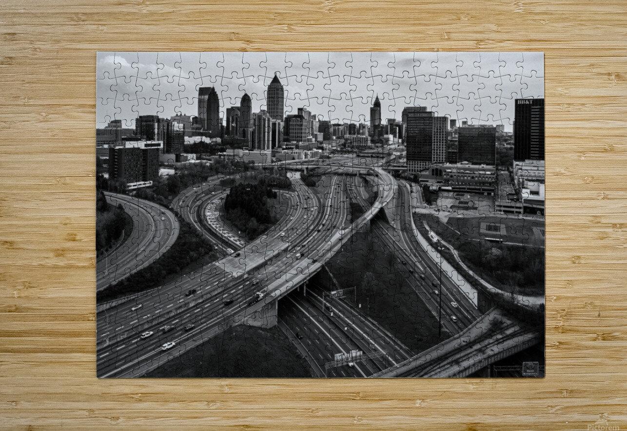 Interstate 75 85 Aerial View   Atlanta GA 0225_1596639055.5636  HD Metal print with Floating Frame on Back