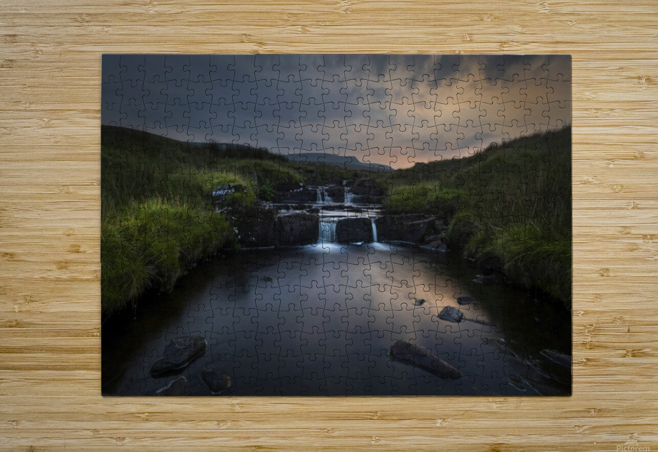 Dusk over the Brecon Beacons  HD Metal print with Floating Frame on Back