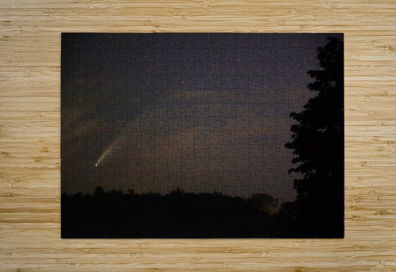 Neowise Comet 7.14.20  HD Metal print with Floating Frame on Back