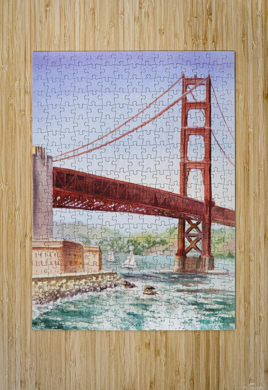 Golden Gate Bridge San Francisco  HD Metal print with Floating Frame on Back