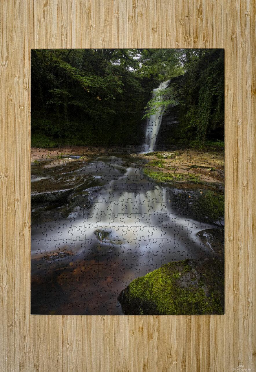 Blaen y Glyn waterfalls  HD Metal print with Floating Frame on Back