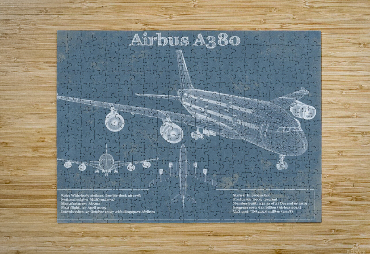 a380xd  HD Metal print with Floating Frame on Back