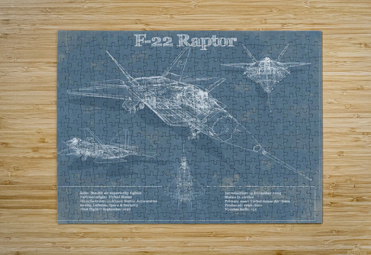 f 22  HD Metal print with Floating Frame on Back