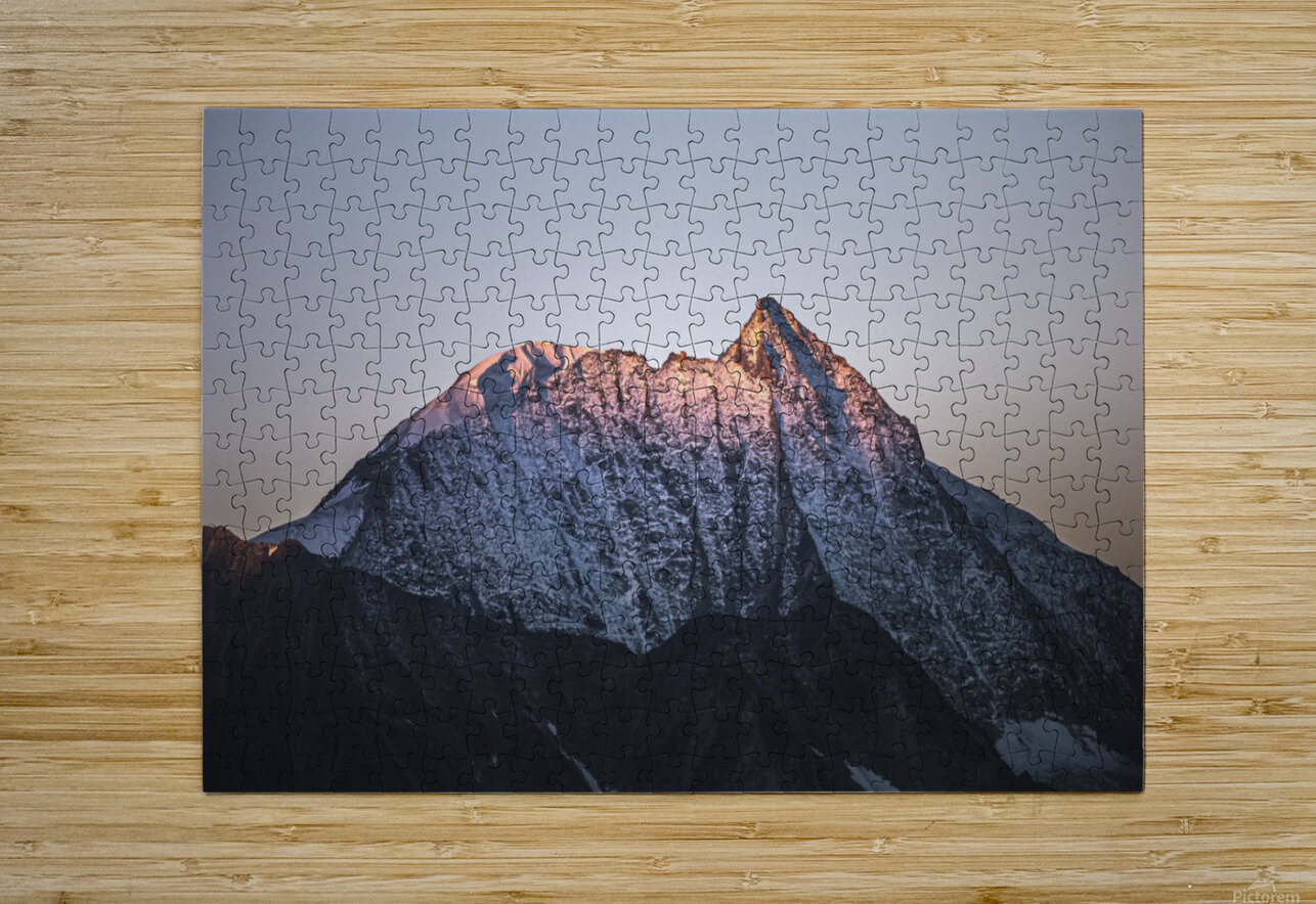Awakening of the mountain  HD Metal print with Floating Frame on Back