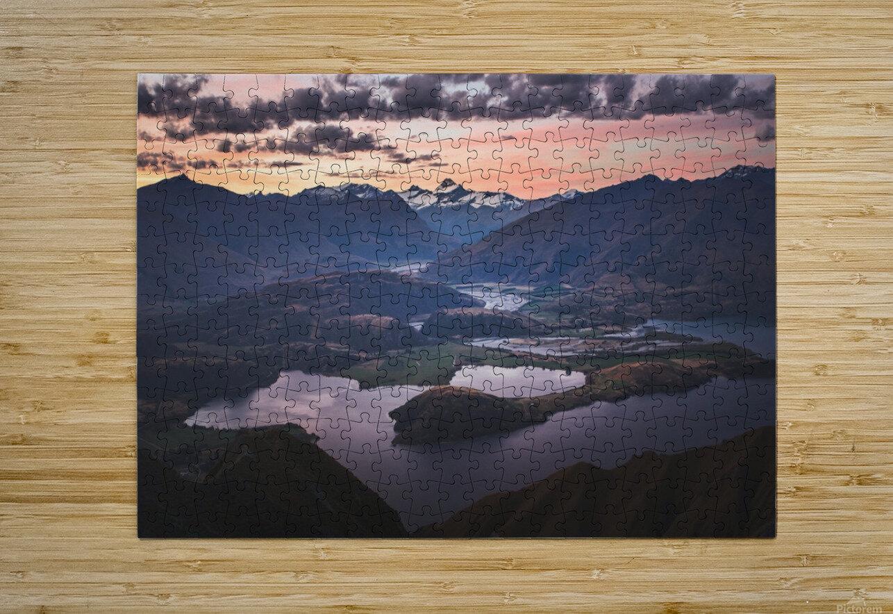 Tititea Mount Aspiring  HD Metal print with Floating Frame on Back