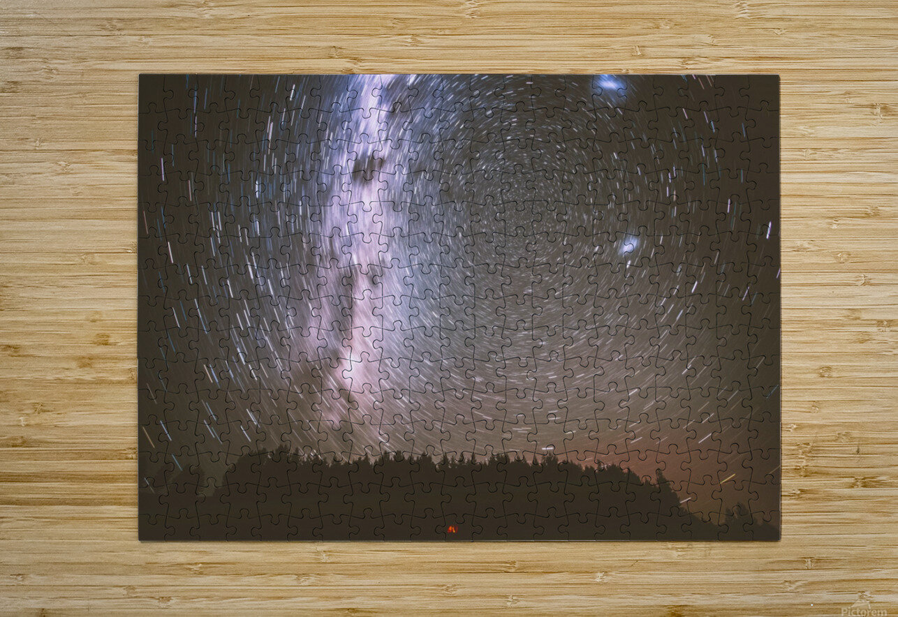 Spin of stars  HD Metal print with Floating Frame on Back