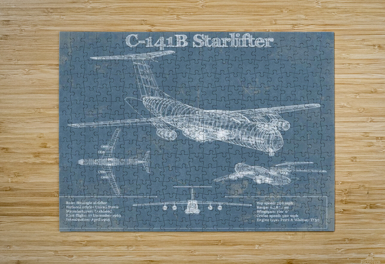 starlifter  HD Metal print with Floating Frame on Back