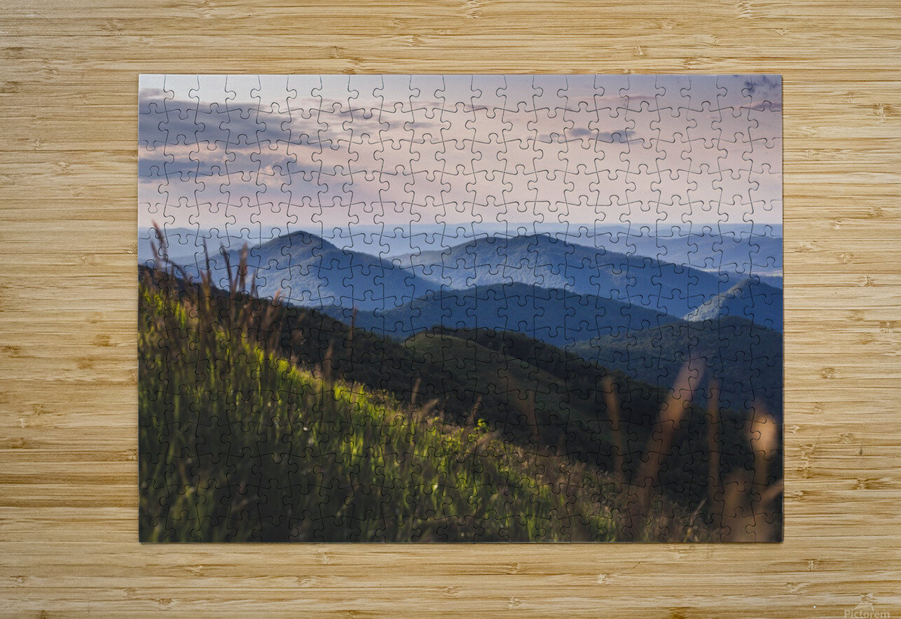 Soft chill in Bieszczady  HD Metal print with Floating Frame on Back