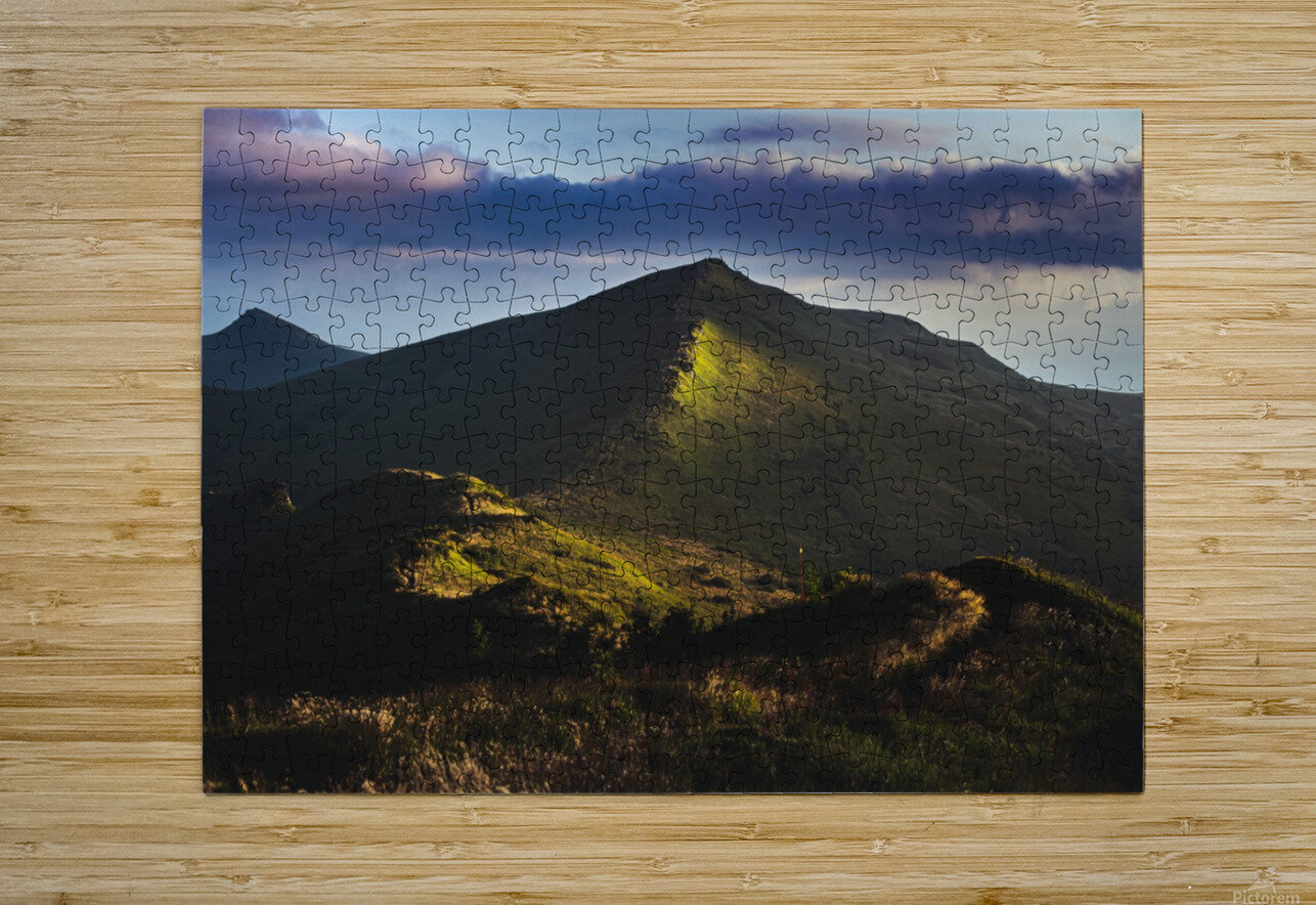 Morning trail  HD Metal print with Floating Frame on Back