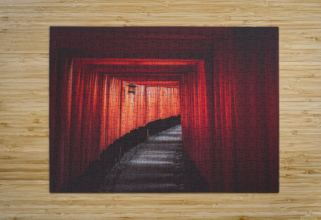 Fushimi red  HD Metal print with Floating Frame on Back