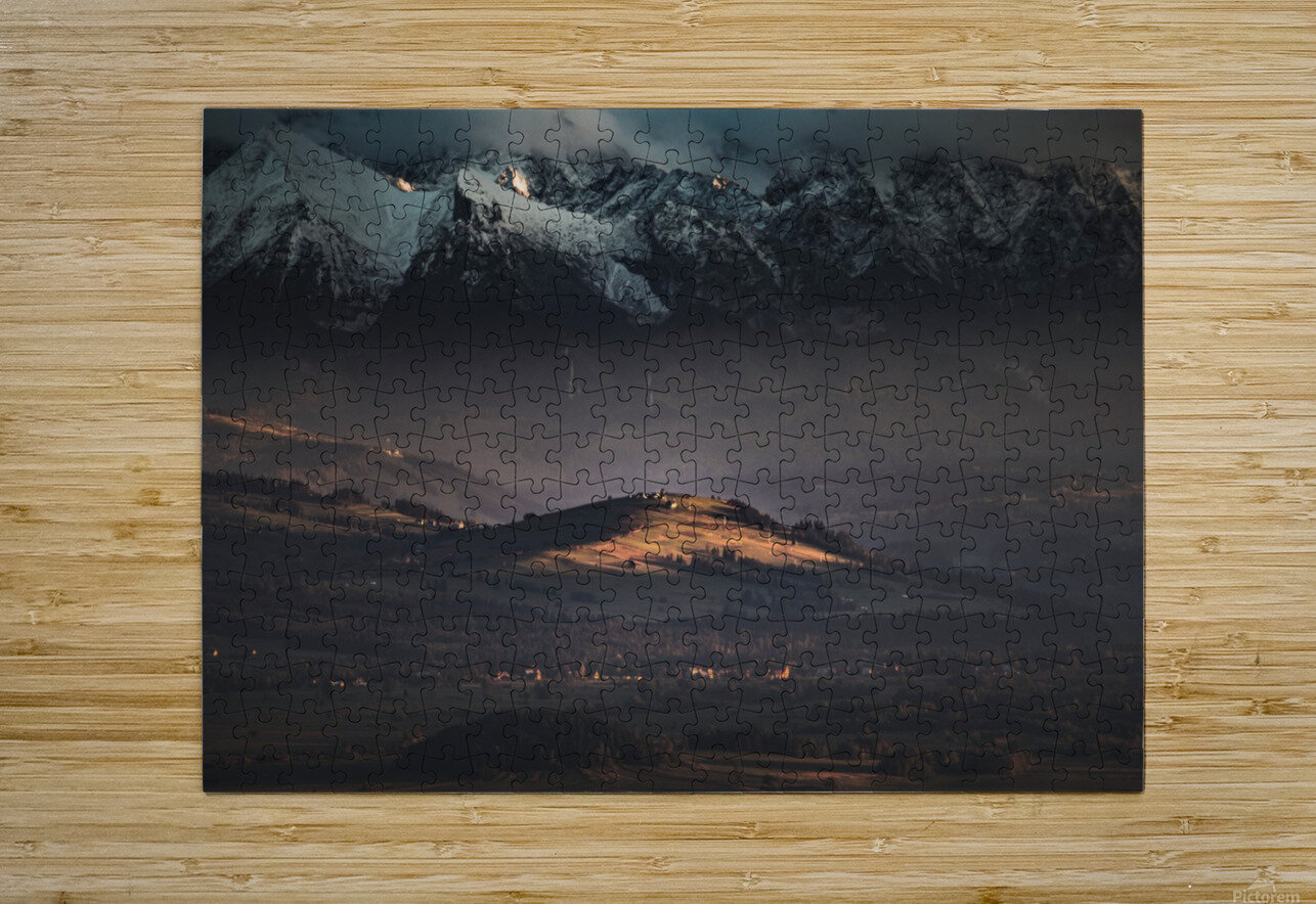 Tatry  HD Metal print with Floating Frame on Back