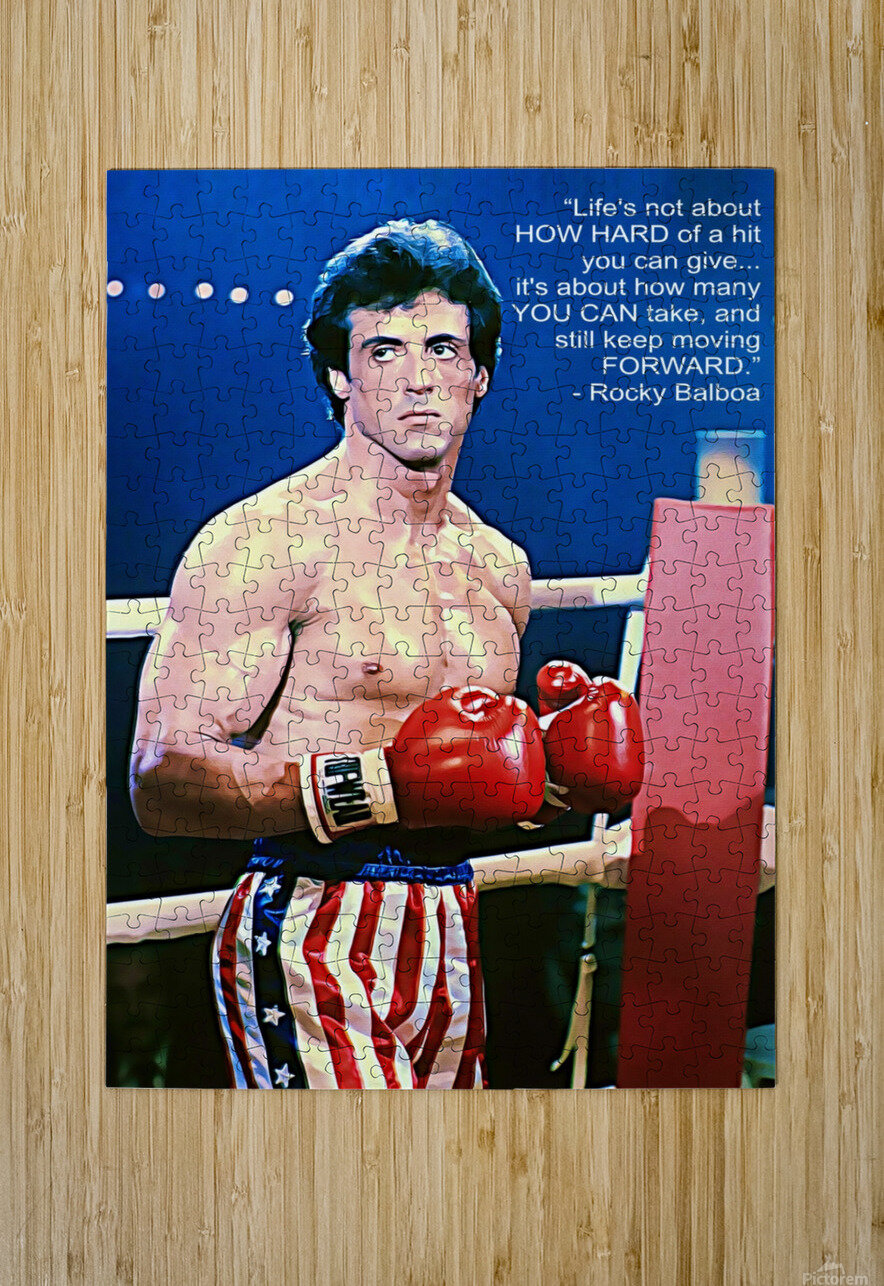 Rocky Sylvester Stallone  HD Metal print with Floating Frame on Back