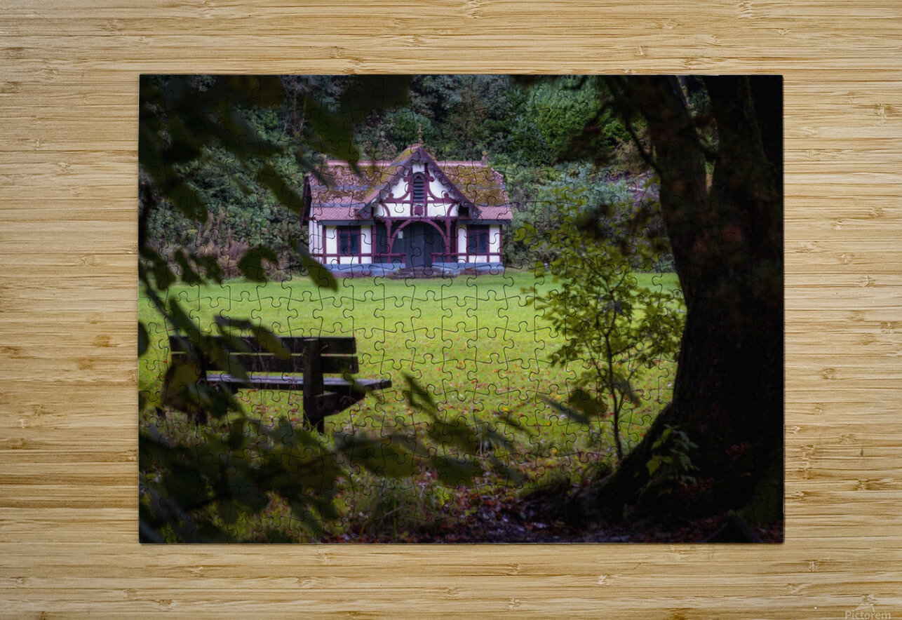 Craig-y-Nos Country park pavilion  HD Metal print with Floating Frame on Back