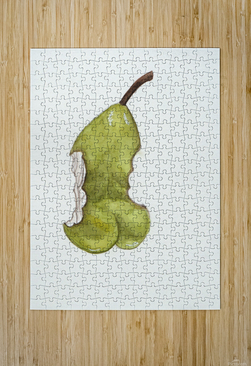 Up Pear-ass  HD Metal print with Floating Frame on Back