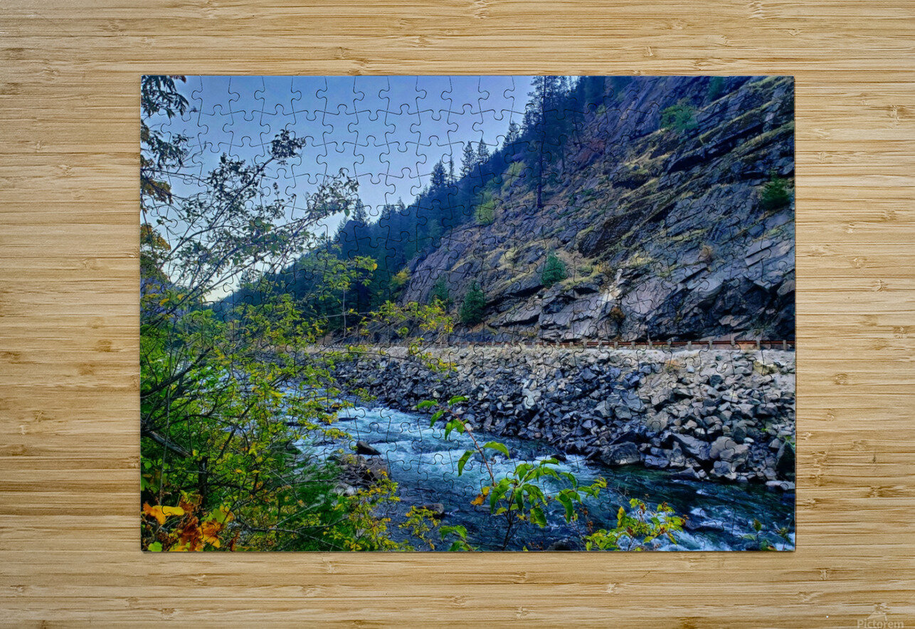 Wenatchee River   HD Metal print with Floating Frame on Back