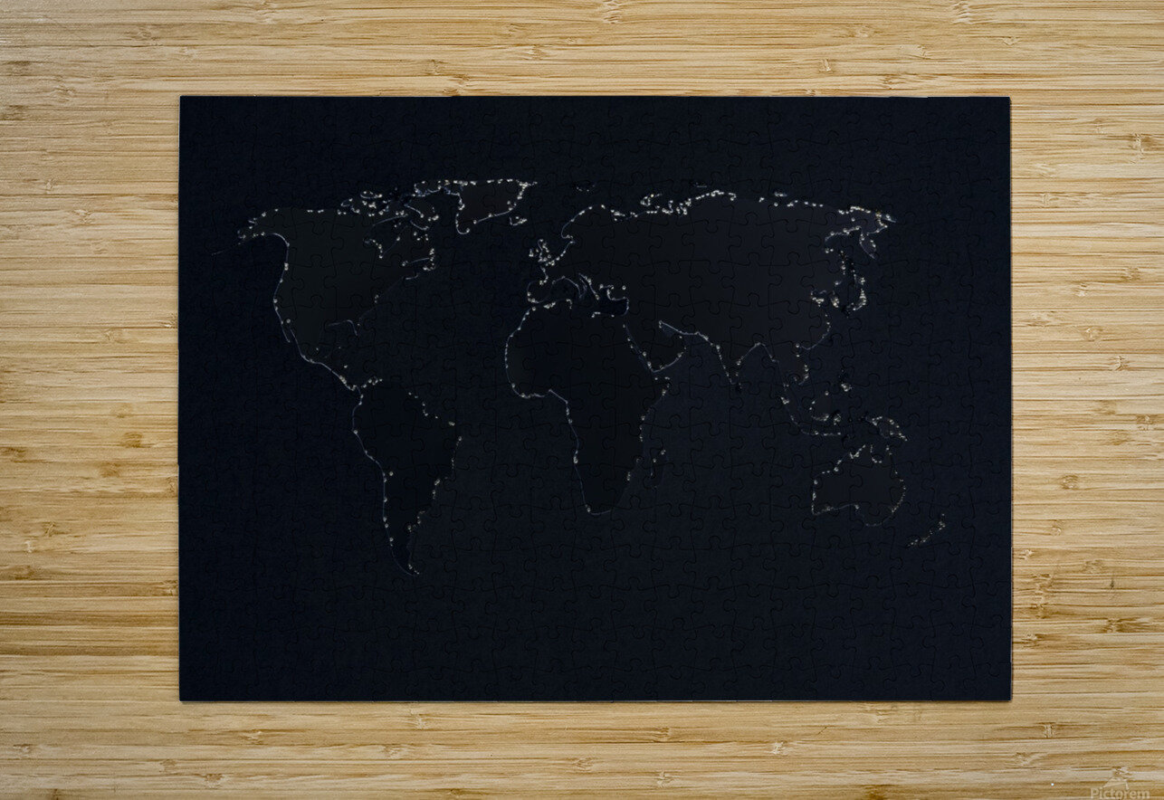 Dark Continent Lallia  HD Metal print with Floating Frame on Back