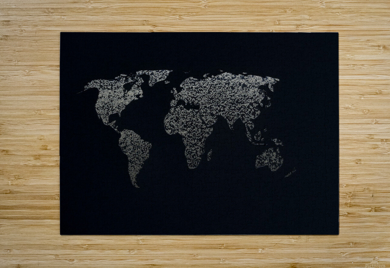 Dark Continent Ifren  HD Metal print with Floating Frame on Back